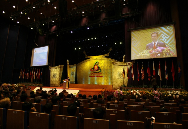 Vietnam's Prime Minister Nguyen Tan Dung speaks at the opening ceremony of the 16th ASEAN Summit in Hanoi