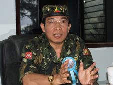 Yawd Serk of the Shan State Army- South, pictured in 2010. (PHOTO: DVB)