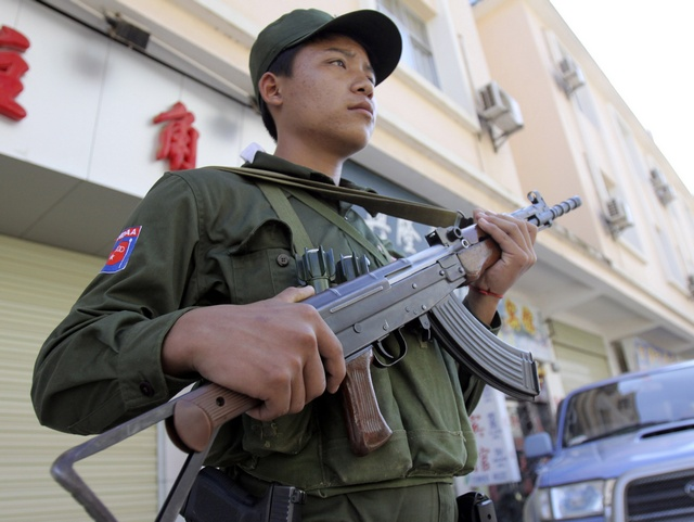 A file picture of a Kokang soldier. The eight Chinese confessed to training with the Kokang army before killing their commanding officer and stealing a truck and weapons. (PHOTO: Reuters)