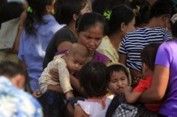 File photo of Karen mother with children. (DVB)
