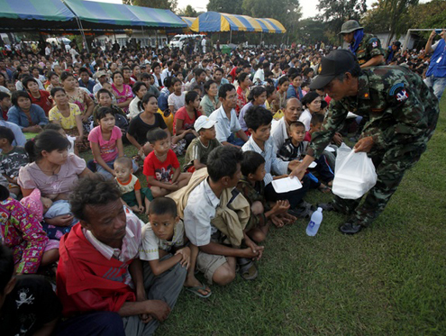 TBC say the Thai border refugee population has decreased by 7.1 percent.