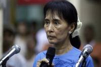 Suu Kyi described the Irrawaddy River on which the dam is being built as the 'grand natural highway' on Burma (Reuters)