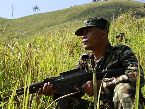 File photo of KNLA soldier (PHOTO: DVB)