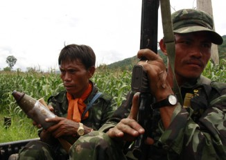 File photo of some DKBA renegade soldiers. (Photo: Francis Wade / DVB)