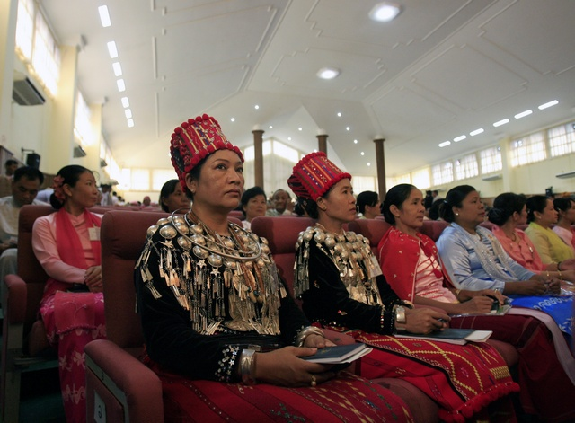 Delegates from Kachin state take part in the opening session of Burma's National Convention in October 2006. (Reuters)