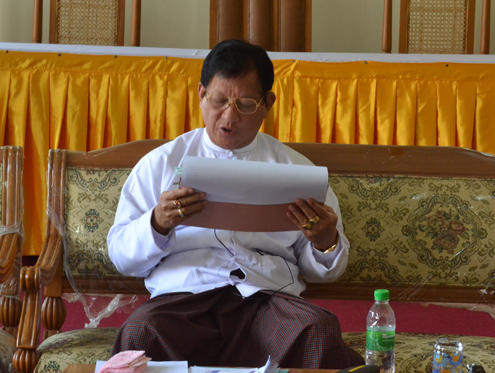 Burma's Union Election Commission Chairman  Tin Aye, pictured in 2012. (PHOTO:DVB)