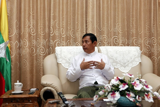 Burmar's Energy Minister Than Htay talks during an interview at the Energy Ministry office in Naypyitaw on 27 January 2012. (Reuters)