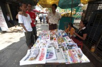 Under new MoI bylaws, Burmese newspapers will no longer have to renew their licenses every year (PHOTO:DVB)