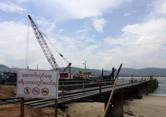 A small port has been built for temporary use at the site for a billion dollar industrial estate in Tavoy [Dawei] in southern Burma; pictured in May 2012. (PHOTO: Reuters)