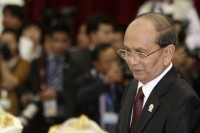 President Thein Sein at the 20th ASEAN summit meeting in Phnom Penh on 3 April 2012. (PHOTO: Reuters)