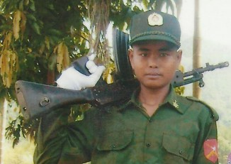 File photo of a child soldier in Burma (PHOTO: DVB)