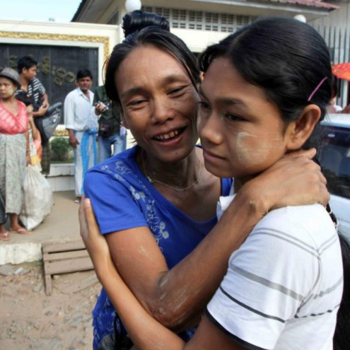 Prisoners released from Insein prison on Wednesday 15 Nov.