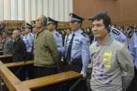 Naw Kham (R) is sentenced to death for murder at a court in Kunming, Yunnan province in November 2012 (Reuters)