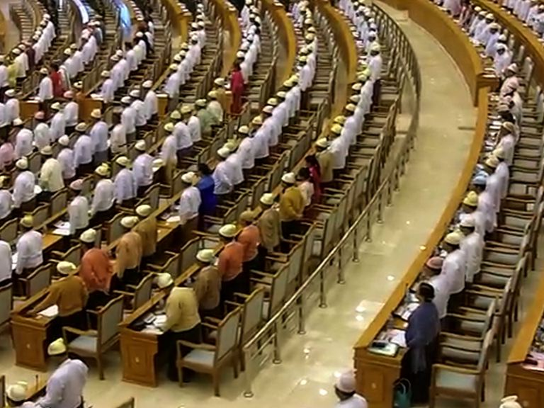 File photo of the lower house of parliament  in Naypyidaw. (PHOTO: DVB)