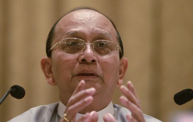 File photo of President Thein Sein  (PHOTO: Reuters)