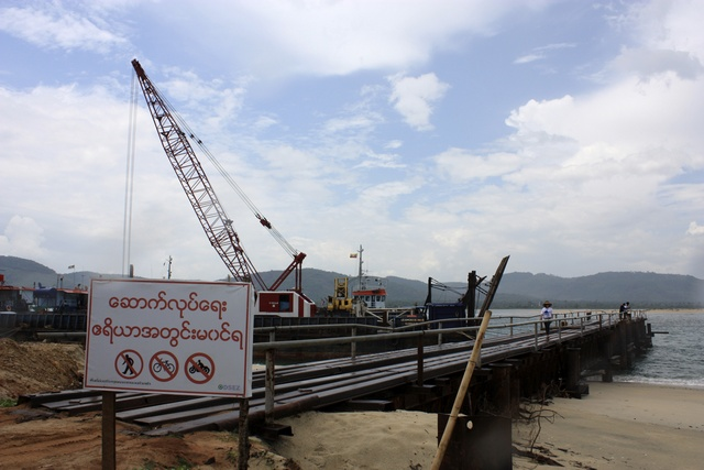 A small port is built for temporary use at a site for a billion dollar industrial estate in Dawei district in Burma, 10 May 2012. (PHOTO: Reuters)