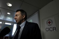 Peter Maurer, President of the International Committee of the Red Cross (ICRC), answers a reporter's question after a news conference in Geneva on 7 September 2012. (Reuters)