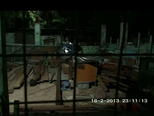 A screenshot of a Muslim school in Thaketa township, Rangoon after being assaulted by a mob on 18 February 2013. (DVB)