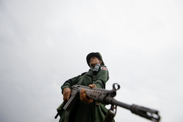 A Burmese soldier. (Reuters)