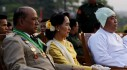 Myanmar's opposition leader Aung San Suu Kyi attends Armed Forces Day in Naypyitaw