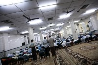 Muslims pray in a mosque in Rangoon on 6 April 2013. (PHOTO: Reuters)