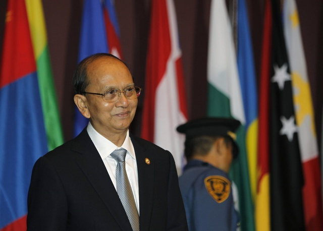 President Thein Sein attends a UN event in Bangkok (Reuters)