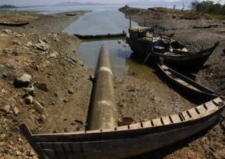 The Shwe gas pipeline on Burma's Arakan coast, pumps offshore natural gas to Yunnan, China. (PHOTO: Shwe Gas Movement)