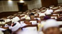 Myanmar's pro-democracy leader Aung San Suu Kyi attends parliament meeting in Lower house of  Parliament in Naypyitaw