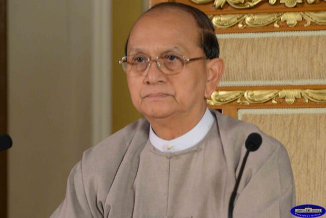 File photo of President Thein Sein from 2013. (photo: Hmuu Zaw Facebook)