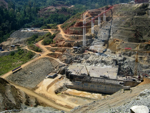 File photo of the Upper Paunglaung Dam in Shan State.