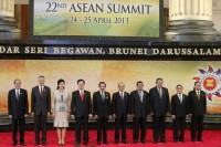 Leaders of ASEAN pose for a group photo during the ASEAN Summit in Bandar Seri Begawan (Reuters)
