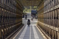 The bridge which separates India and Burma at Moreh. (Reuters) .