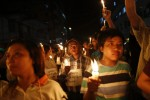 In this file photo, demonstrators in Rangoon hold a candlelight vigil in 2013 to protest a proposed hike in energy prices. (Photo: Reuters)