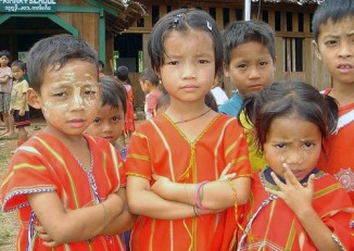 File photo of Karen primary school students (PHOTO: DVB)