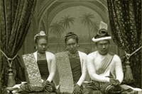 Burma's Thibaw (right), Queen Supayalat (centre) and her sister Princess Supayaji (left), pictured in the royal palace at Mandalay, c.1885 (PHOTO: CPA Media/ www.picturesfromhistory.com)