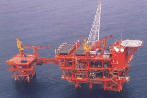 A file photo shows Yetagun gas field, in a separate area of Burma's territorial waters.
