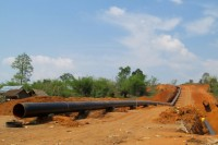 The Shwe gas pipeline seen in Burma's eastern Shan State, April 2012. (PHOTO: Feliz Solomon)