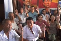 File photo of Human Rights Defenders and Promoters Network campaigning for the release of Aye Myint. (PHOTO: DVB)