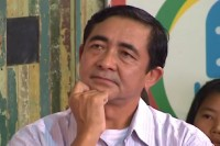 USDP MP Hla Swe, pictured during a 2014 appearance on DVB Debate. (PHOTO: DVB)
