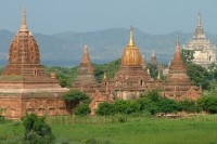 Bagan, an ancient city in central Burma's Mandalay Division, is one of the country's biggest draws for tourists. (PHOTO: Wikimedia Commons, Lisa de Araujo)