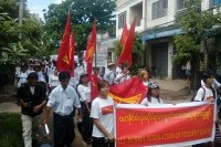 The All-Burma Federation of Student Unions gathered in Prome, Pegu Division, on 22 May. (Photo: DVB)