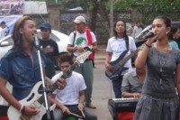 Musicians meet in Rangoon to raise funds for those displaced by conflict in Burma's northern Kachin State. (PHOTO: DVB)