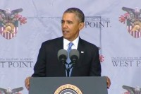 US President Barack Obama speaks at West Point military academy on Wednesday. (PHOTO:The White House)