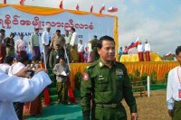 Arakan State's new chief minister, Maj-Gen Maung Maung Ohn, pictured on Monday in state capital Sittwe. (PHOTO: DVB)