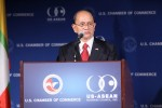 Burmese President Thein Sein speaks at the US Chamber of Commerce in 2013. (PHOTO: US Chamber of Commerce)