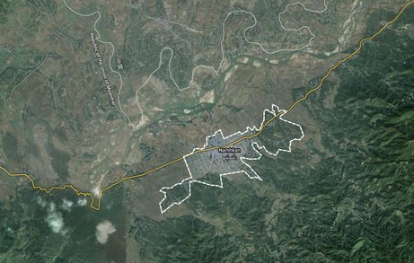 Namhkam, Shan State, near the Burma-China border. (IMAGE: Google Earth)