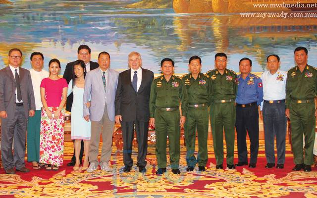 Burma's Commander-in-Chief Sen-Gen Min Aung Hlaing met with anti-Beijing tycoon Jimmy Lai Chee-Ying and former head of the World Bank Paul Wolfowitz in June 1023.
