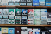 FILE PHOTO: Cigarettes on display in Rangoon (PHOTO: Feliz Solomon/DVB)