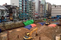 A construction site in Burma's rapidly developing former capital, Rangoon, in July 2014 (Photo: Feliz Solomon/DVB)