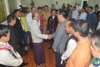 Burma's President Thein Sein meets with UWSA, SSA-N and NDAA leaders in Naypyidaw on Monday, 25 August 2014. (PHOTO: DVB)